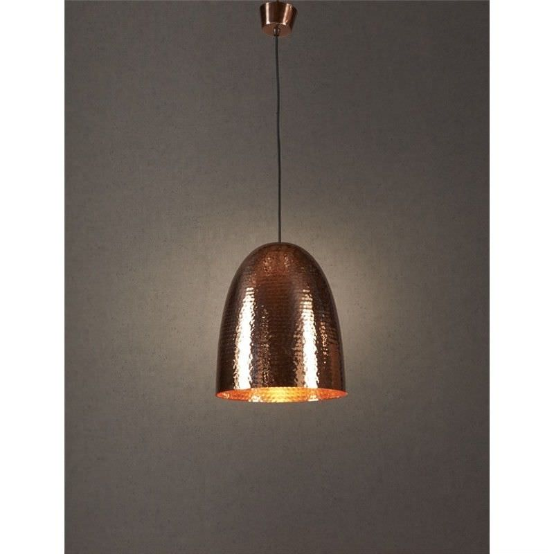Dolce Hammered Metal Pendant Light, Copper