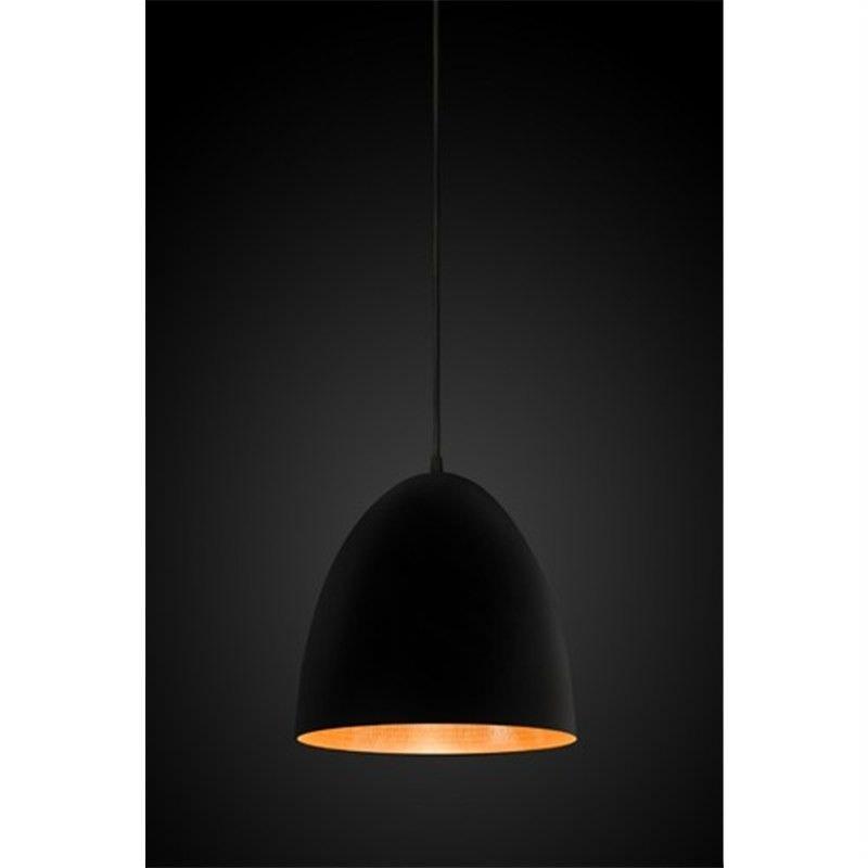 Egg Metal Pendant Light, Black/Copper