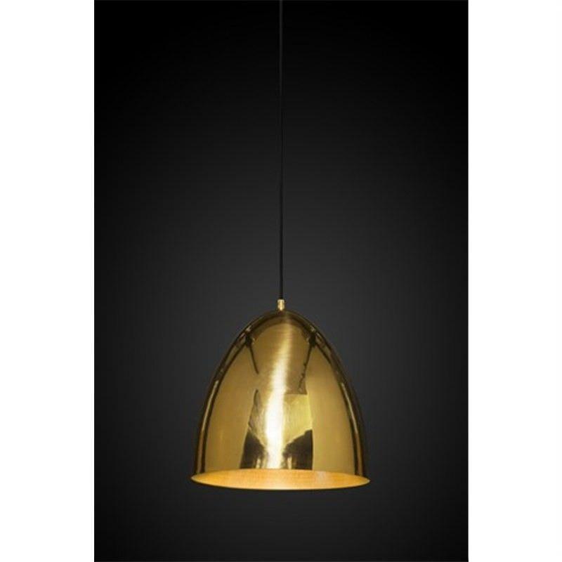 Egg Metal Pendant Light, Brass