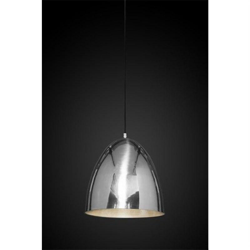 Egg Metal Pendant Light, Silver