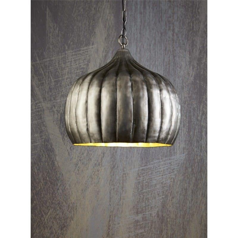 Pumpkin Pendant Light - Silver