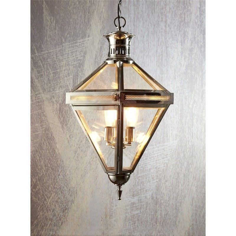 Rockefella Metal & Glass Pendant Light - Silver