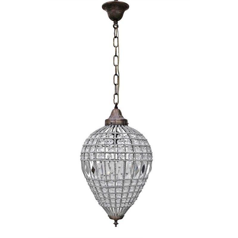 St Loren French Inspired Crystal Pendant Light - Large