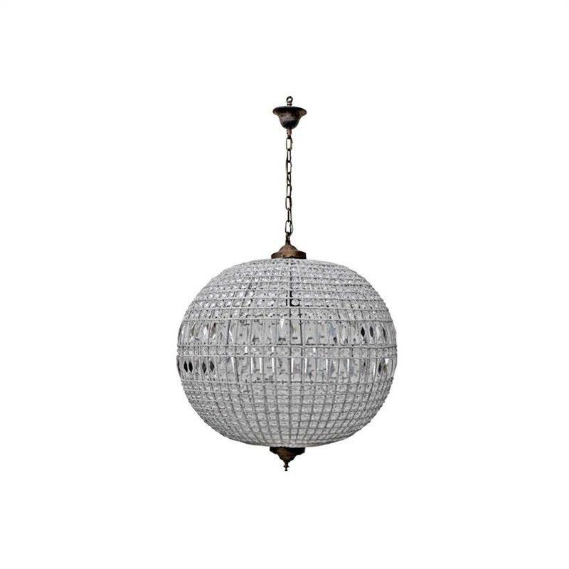 Palermo Italian Inspired Crystal Pendant Light, 50cm