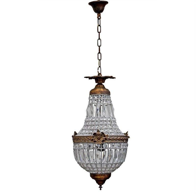 Empire II Long Crystal Pendent Light