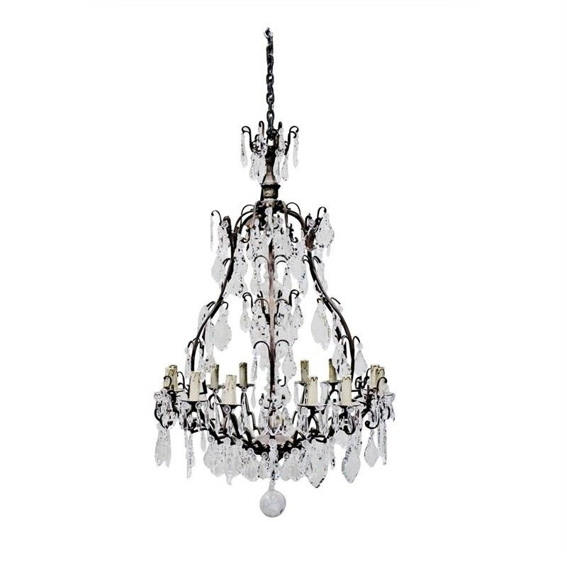 Cast iron crystal baroque chandelier dominique cast iron crystal baroque chandelier aloadofball Images