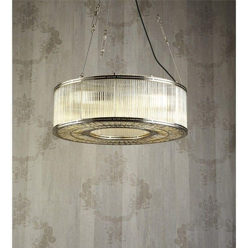 Verre Metal & Glass Ring Pendant Light