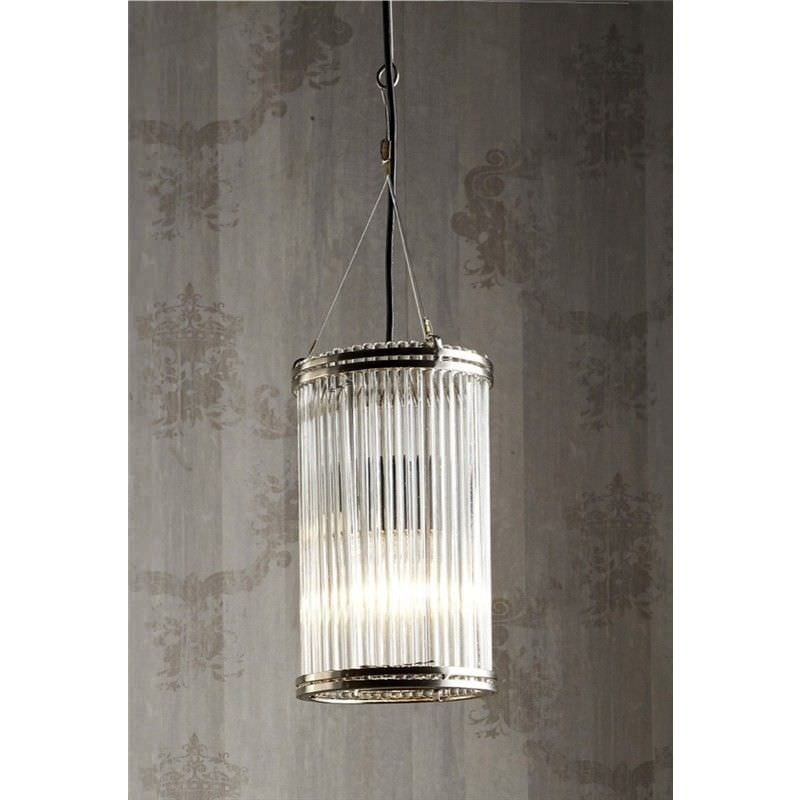 Verre Metal & Glass Pipe Pendant Light - Small