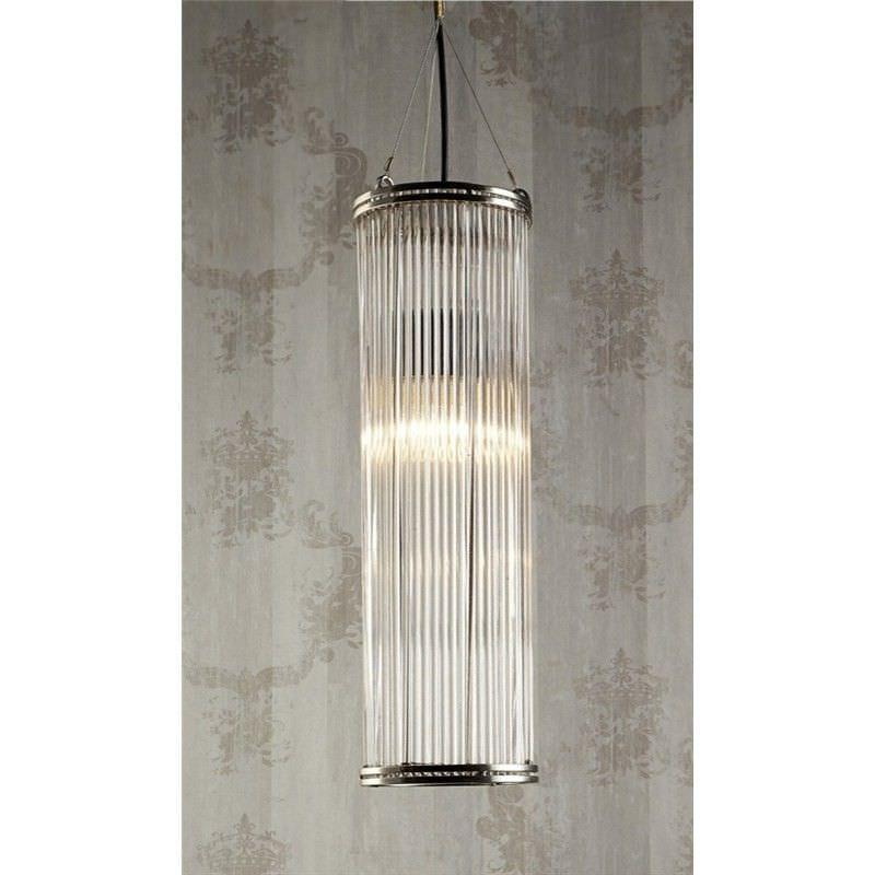Verre Metal & Glass Pipe Pendant Light - Large