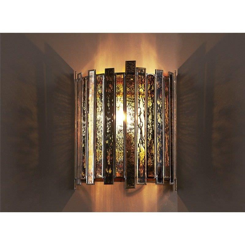 Monroe Half Round Glass Wall Light