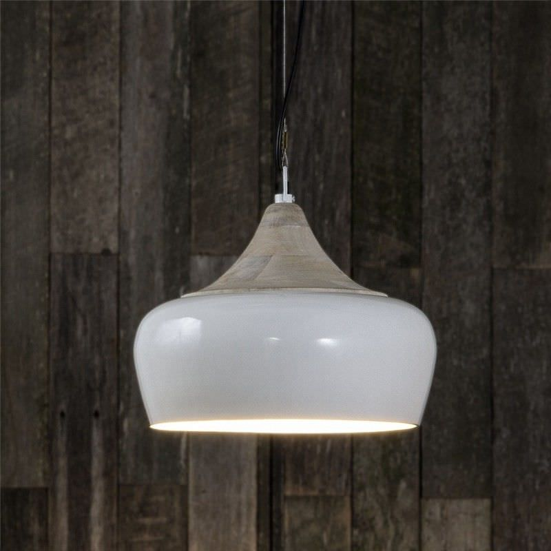 Milano Metal Pendant Light - White