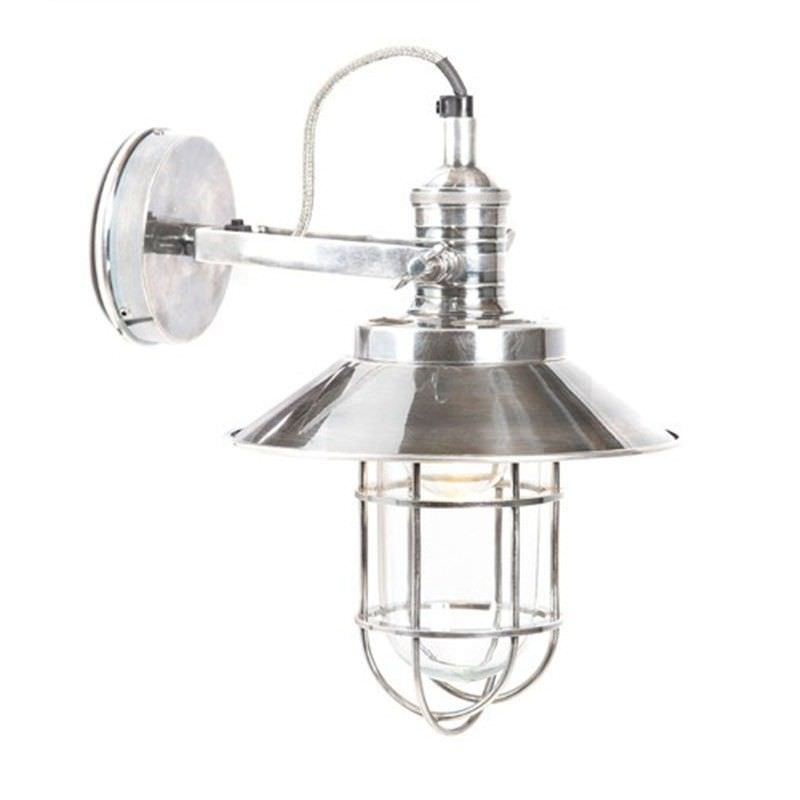 Maine Metal Bunker Wall Sconce - Silver