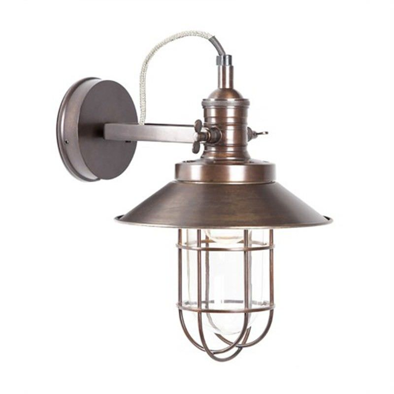 Maine Metal Bunker Wall Sconce - Copper