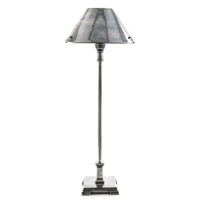 Bruxelles Metal Table Lamp - Antique Silver