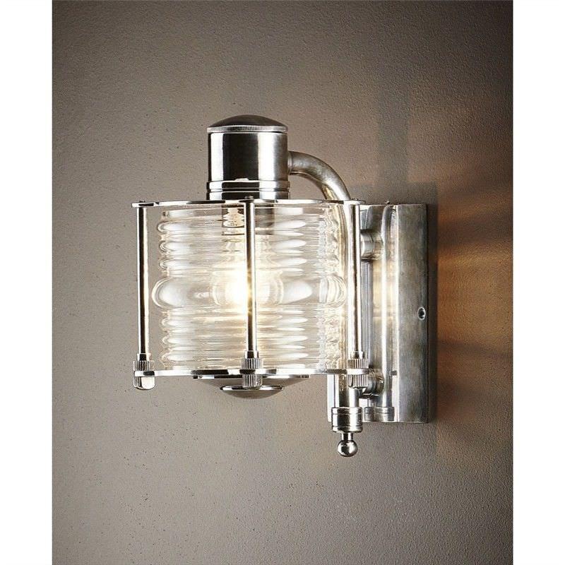 Yarra IP54 Indoor/Outdoor Metal Wall Sconce - Antique Silver