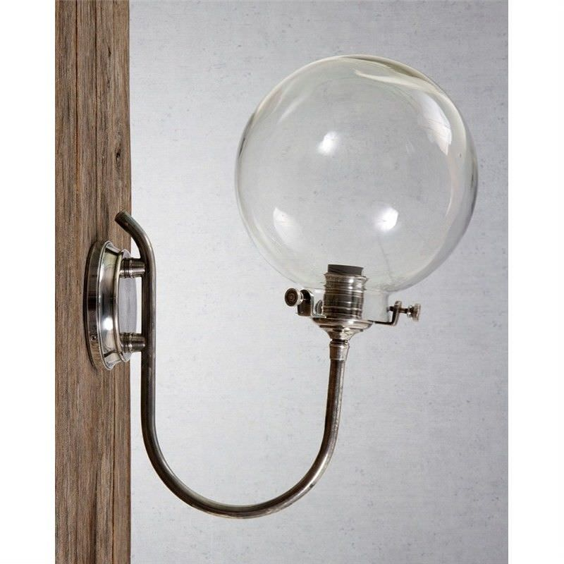 Catalina IP54 Indoor/Outdoor Metal & Glass Wall Sconce - Antique Silver