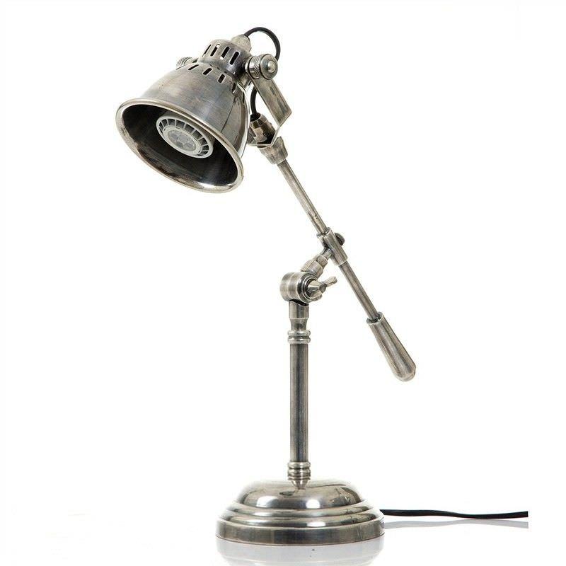 Newcastle Industrial Adjustable Metal Table Lamp