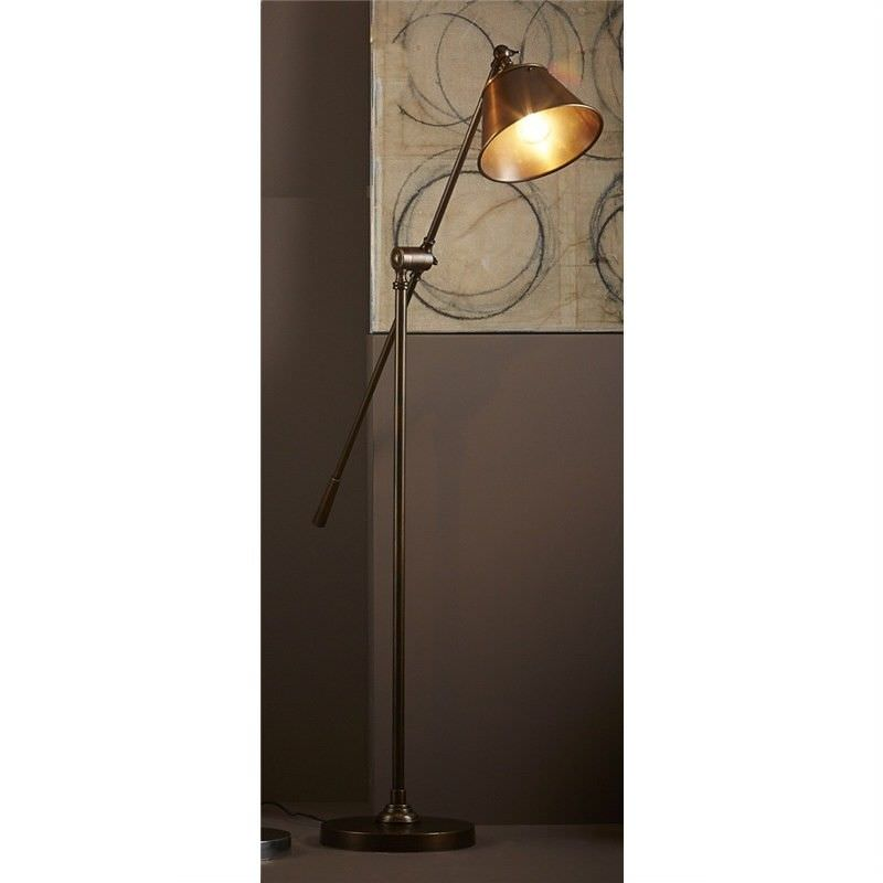Winslow Adjustable Metal Floor Lamp - Antique Brass