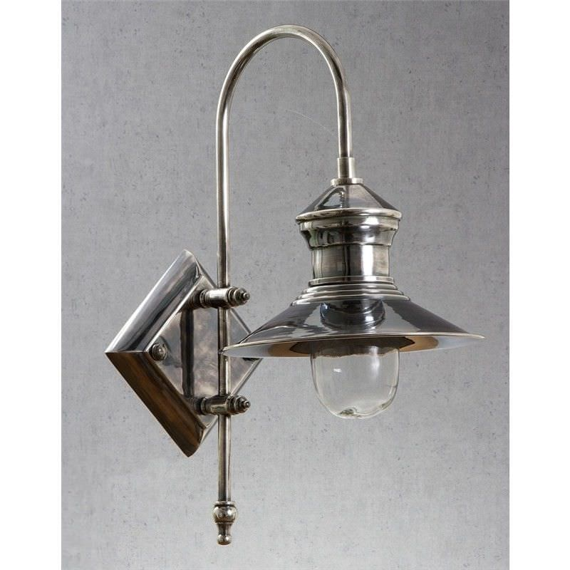 St. James IP54 Retro Outdoor Metal Wall Sconce, Antique Silver