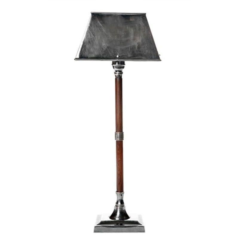 Jersey Metal & Timber Table Lamp - Natural/Silver
