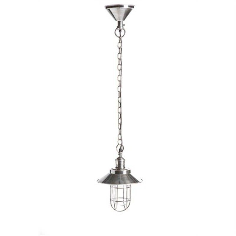 Maine Metal Pendant Light - Silver