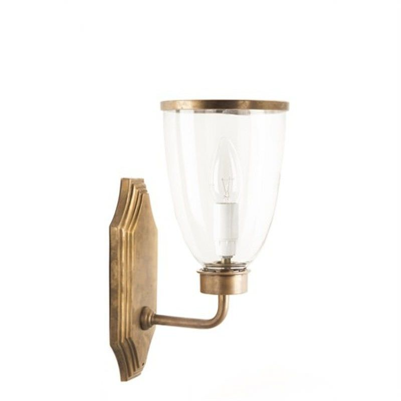 Westbrook Metal & Glass Wall Light - Brass