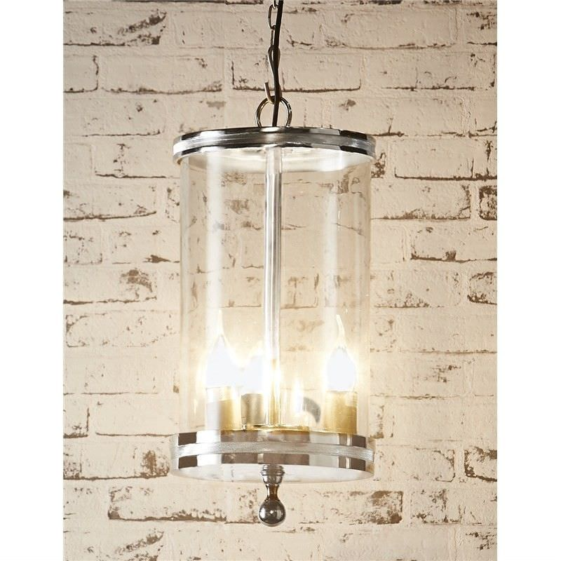 Carnaby Steel and Glass Cylinder Pendant Light - Nickle