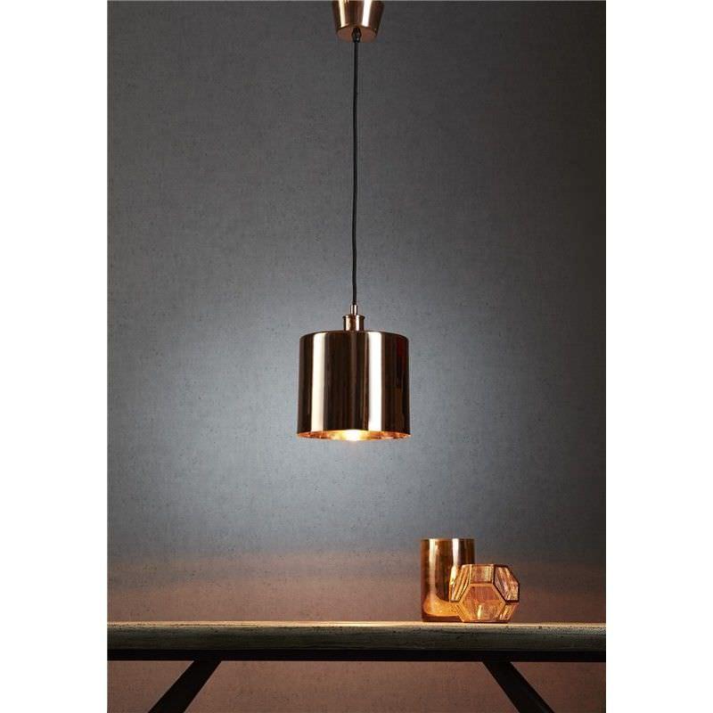 Portofino Metal Pendant Light, Copper