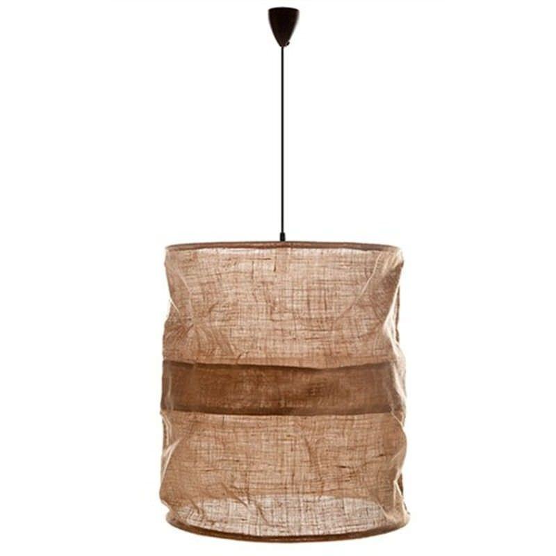 Sac Extra Large Jute Fabric Shade Pendant Light - Natural