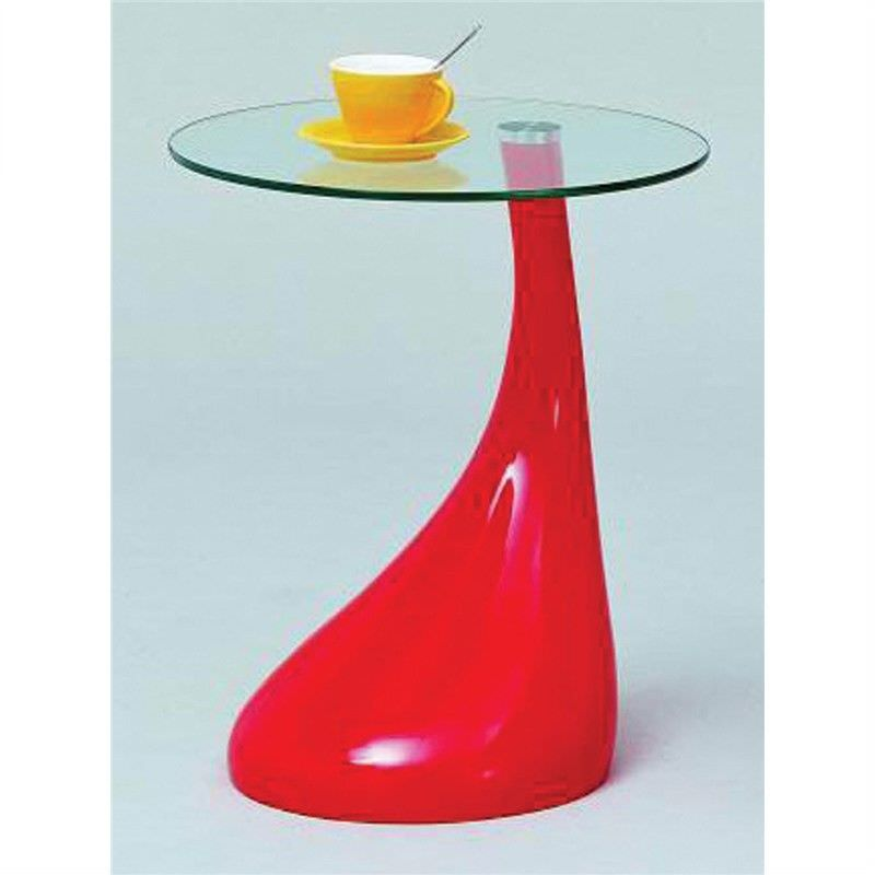 Utility Table Top 8Mm Tempered Fiber Glass in Red - 45 x 45 x 80 cm