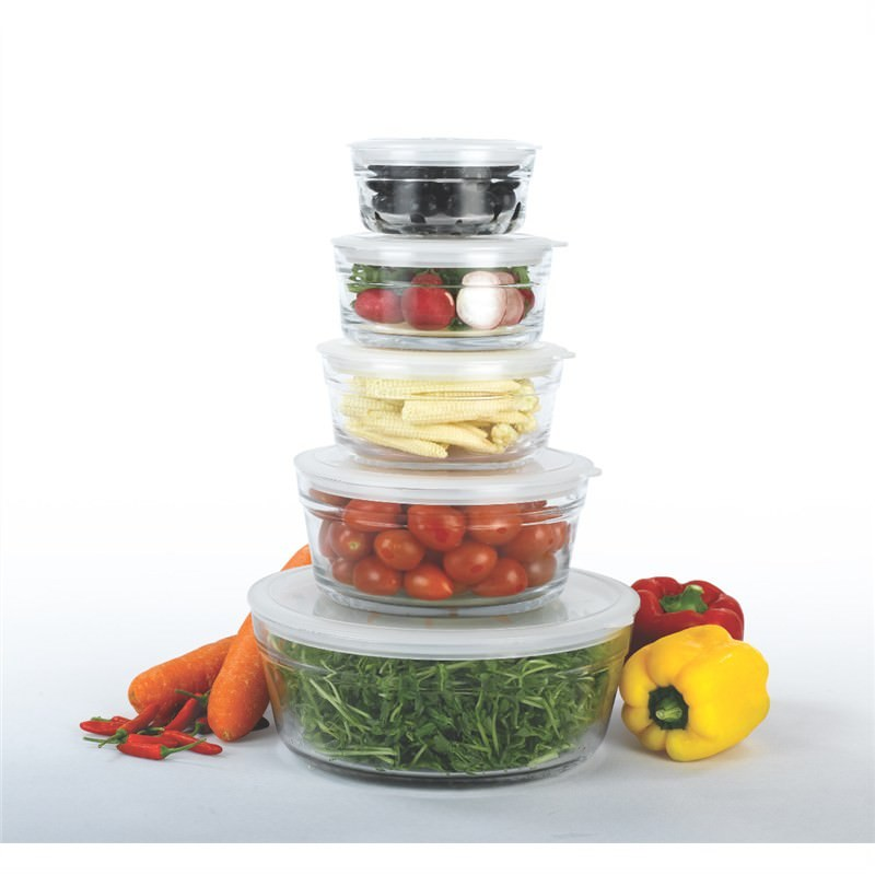 5 Pce Salad Bowl Set with Lids