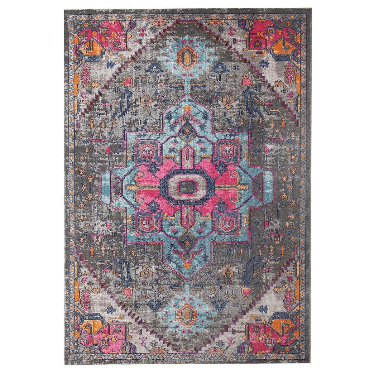 Eternal Whisper Quad Turkish Made Oriental Rug, 240x330cm, Grey
