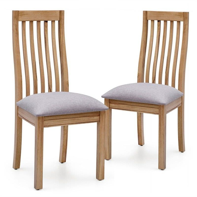 Chelsea Set of 2 Solid Messmate Oak Timber Dining Chairs