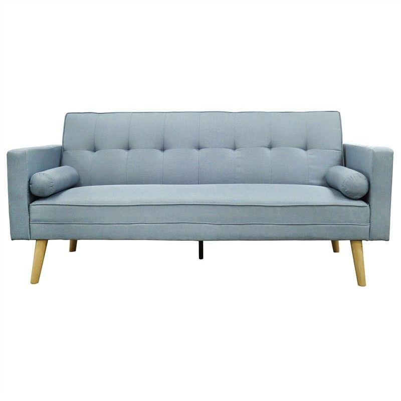 Amy Fabric Click Clack Sofa Bed, Blue