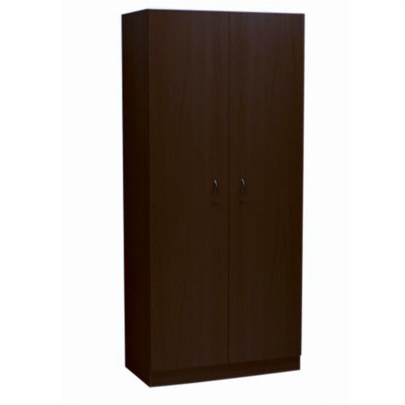 Mission 180x80cm Large 5-Shelf Wardrobe - Walnut