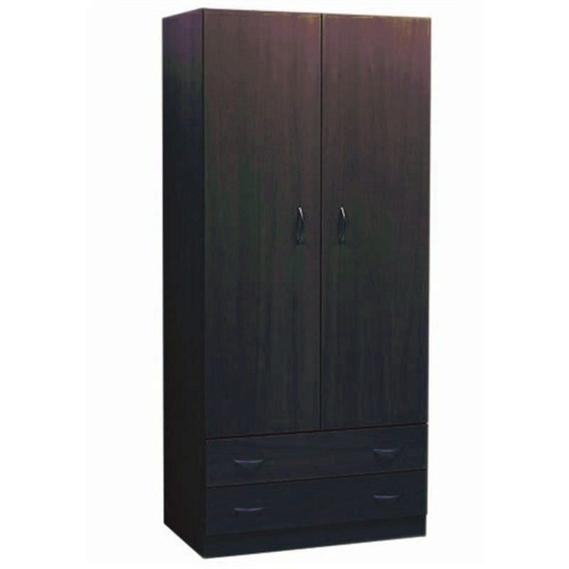 Mission 180x80cm Wardrobe - Walnut