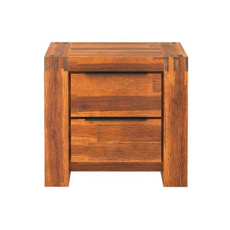 Aston Solide Acacia Timber 2 Drawer Bedside Table