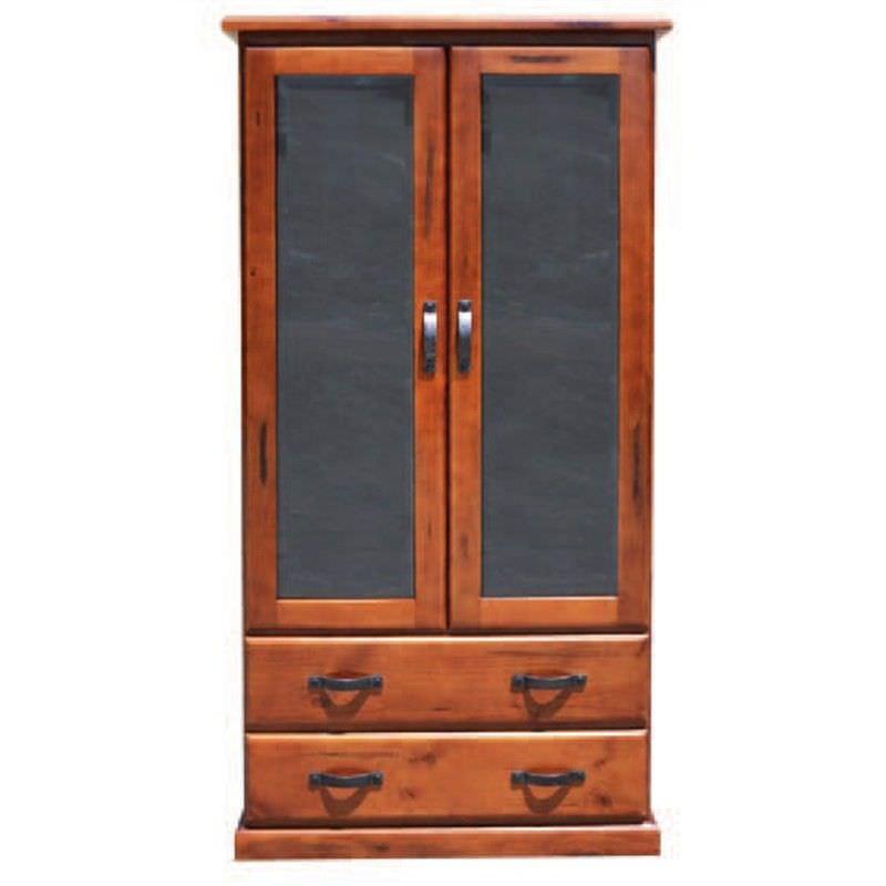 Everest Pine Large Display Cabinet