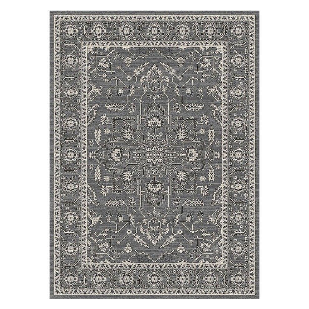 Evoke Release Turkish Made Oriental Rug, 330x240cm, Grey