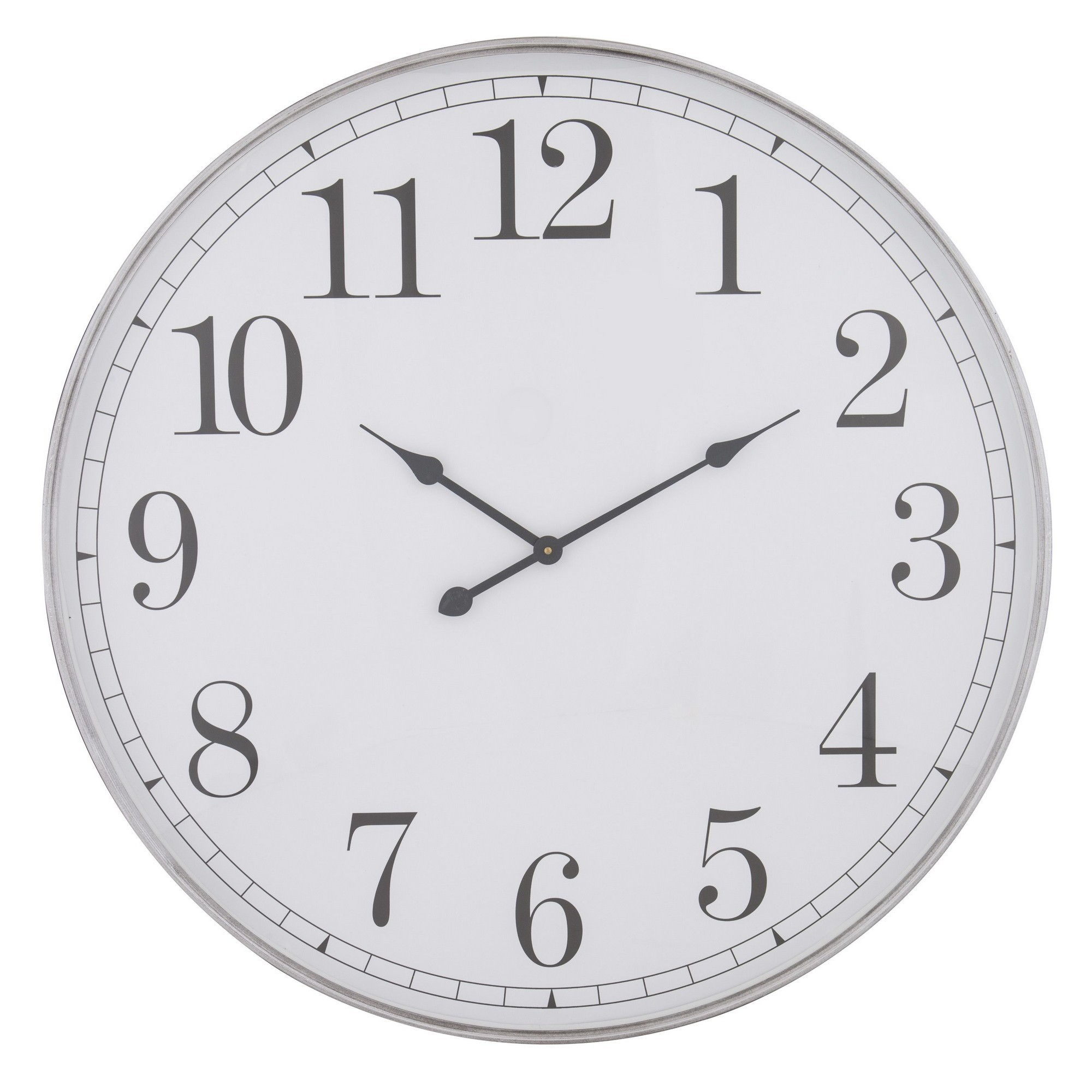 Shella Iron Frame Round Wall Clock, 80cm