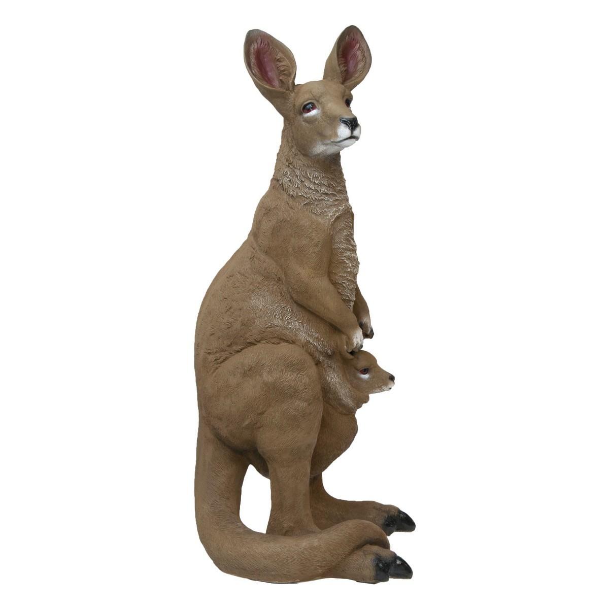 Majestic Kangaroo Polyresin Figurine Decor