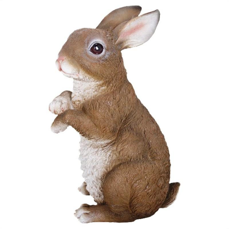 Sitting Rabbit Polyresin Figurine Decor