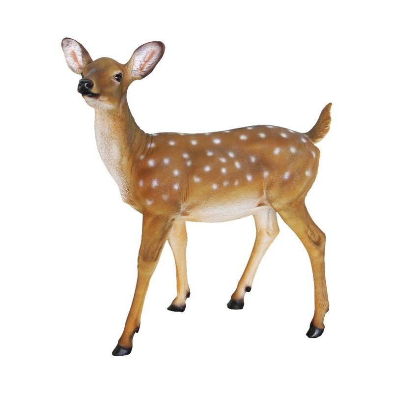 Female Deer Polyresin Figurine Decor