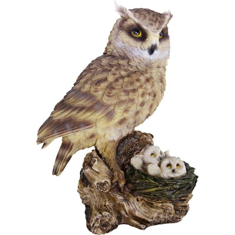 Owl Polyresin Figurine Decor