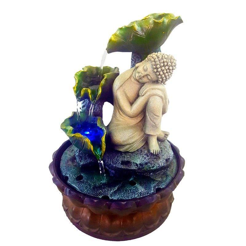 Buddha Leaf Water Fountain - 32cm