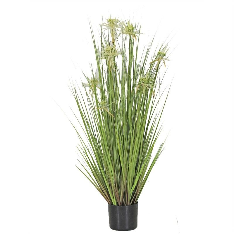 Artificial Sunny Flower Grass in Pot - Large