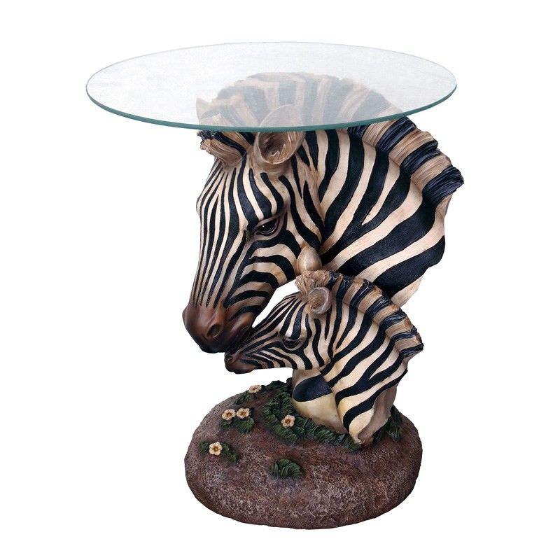 DecorZebra Glass Table - 53cm