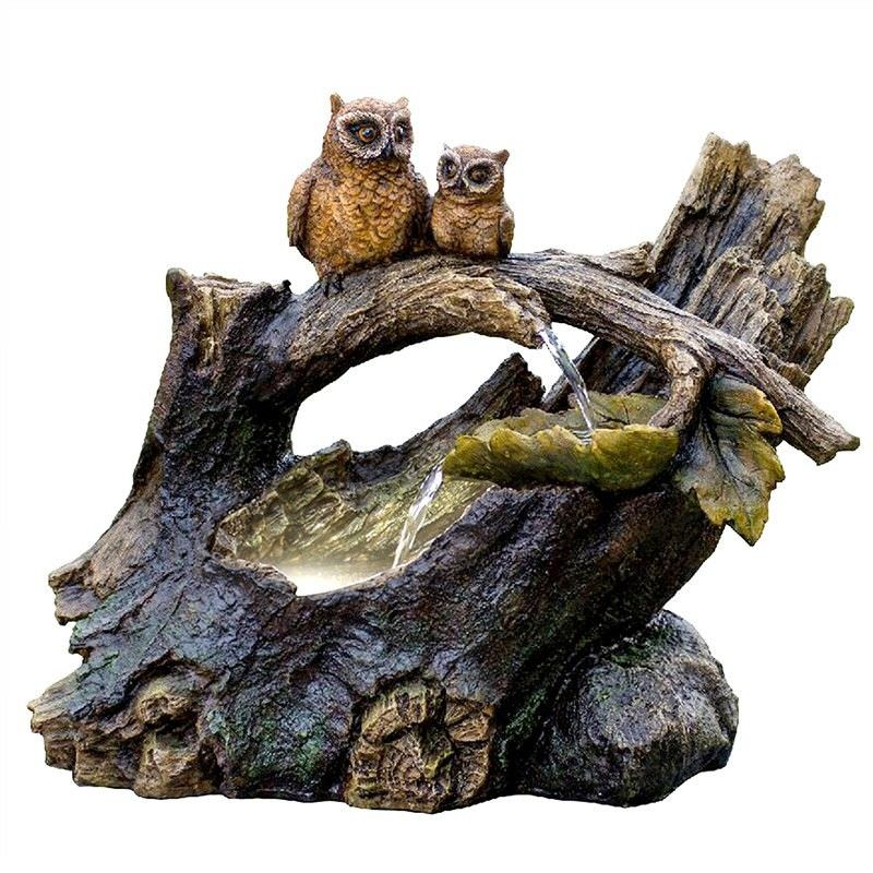 Owls Pond Cascade Water Fountain