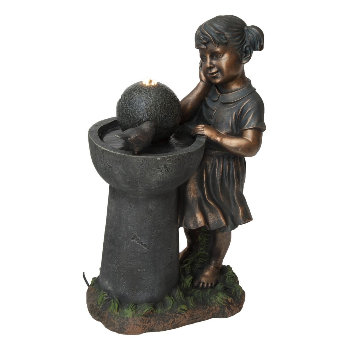 Girl with Bird Bath Fountain