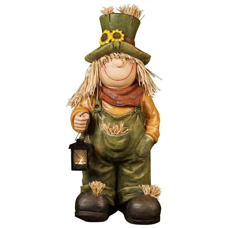 Farm Boy Figurine Decor with Tealight Holder